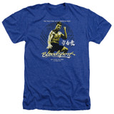 Bloodsport American Ninja Adult Heather T-Shirt Royal Blue