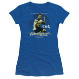 Bloodsport American Ninja Junior Women's Sheer T-Shirt Royal Blue