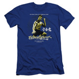 Bloodsport American Ninja Premium Canvas Adult Slim Fit 30/1 T-Shirt Royal Blue