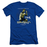 Bloodsport American Ninja Adult 30/1 T-Shirt Royal Blue