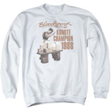 Bloodsport Dux Smash Adult Crewneck Sweatshirt White