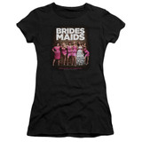 Bridesmaids Poster Junior Women's Sheer T-Shirt Black
