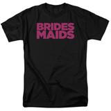 Bridesmaids Logo Adult 18/1 T-Shirt Black