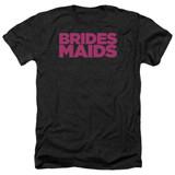 Bridesmaids Logo Adult Heather T-Shirt Black