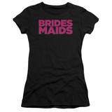 Bridesmaids Logo Junior Women's Sheer T-Shirt Black