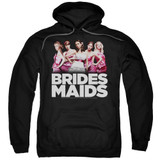 Bridesmaids Maids Adult Pullover Hoodie Sweatshirt Black