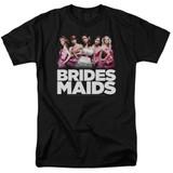 Bridesmaids Maids Adult 18/1 T-Shirt Black
