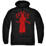 Carrie Silhouette Adult Pullover Hoodie Sweatshirt Black