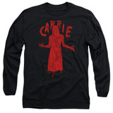 Carrie Silhouette Adult Long Sleeve T-Shirt Black