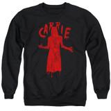 Carrie Silhouette Adult Crewneck Sweatshirt Black