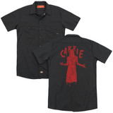 Carrie Silhouette (Back Print) Adult Work Shirt Black