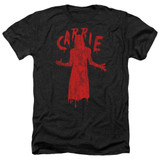 Carrie Silhouette Adult Heather T-Shirt Black
