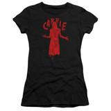 Carrie Silhouette Junior Women's Sheer T-Shirt Black