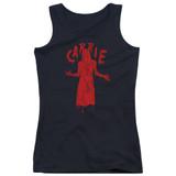 Carrie Silhouette Junior Women's Tank Top T-Shirt Black