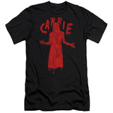 Carrie Silhouette Premium Canvas Adult Slim Fit 30/1 T-Shirt Black