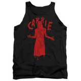 Carrie Silhouette Adult Tank Top T-Shirt Black