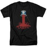 Carrie Bucket Of Blood Adult 18/1 T-Shirt Black