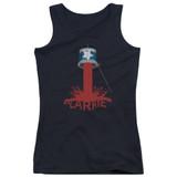 Carrie Bucket Of Blood Junior Women's Tank Top T-Shirt Black