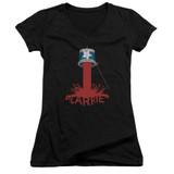 Carrie Bucket Of Blood Junior Women's V-Neck T-Shirt Black