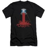 Carrie Bucket Of Blood Premium Canvas Adult Slim Fit 30/1 T-Shirt Black