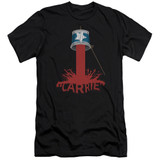 Carrie Bucket Of Blood Adult 30/1 T-Shirt Black