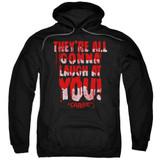 Carrie Laugh At You Adult Pullover Hoodie Sweatshirt Black