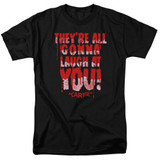 Carrie Laugh At You Adult 18/1 T-Shirt Black