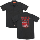 Carrie Laugh At You (Back Print) Adult Work Shirt Black