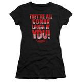 Carrie Laugh At You Junior Women's Sheer T-Shirt Black