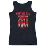 Carrie Laugh At You Junior Women's Tank Top T-Shirt Black