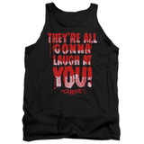 Carrie Laugh At You Adult Tank Top T-Shirt Black