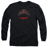 Carrie Prom Queen Adult Long Sleeve T-Shirt Black