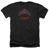 Carrie Prom Queen Adult Heather T-Shirt Black
