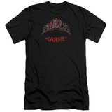 Carrie Prom Queen Adult 30/1 T-Shirt Black