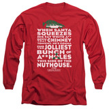 Christmas Vacation Jolliest Bunch Adult Long Sleeve T-Shirt Red