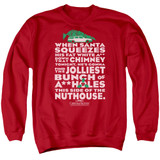 Christmas Vacation Jolliest Bunch Adult Crewneck Sweatshirt Red