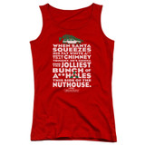 Christmas Vacation Jolliest Bunch Junior Women's Tank Top T-Shirt Red