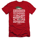 Christmas Vacation Jolliest Bunch Premium Adult 30/1 T-Shirt Red