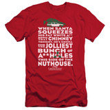 Christmas Vacation Jolliest Bunch Adult 30/1 T-Shirt Red