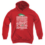 Christmas Vacation Jolliest Bunch Youth Pullover Hoodie Sweatshirt Red