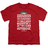 Christmas Vacation Jolliest Bunch Youth T-Shirt Red