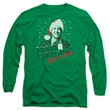 Christmas Vacation Merry Christmas Adult Long Sleeve T-Shirt Kelly Green