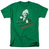 Christmas Vacation Merry Christmas Adult 18/1 T-Shirt Kelly Green