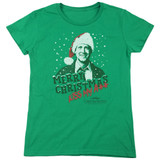 Christmas Vacation Merry Christmas Women's T-Shirt Kelly Green