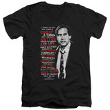 Christmas Vacation Profanities Adult V-Neck T-Shirt Black