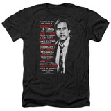 Christmas Vacation Profanities Adult Heather T-Shirt Black
