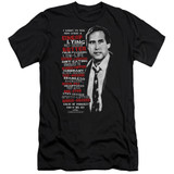 Christmas Vacation Profanities Adult 30/1 T-Shirt Black