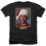 Christmas Vacation Hallelujah Adult Heather T-Shirt Black