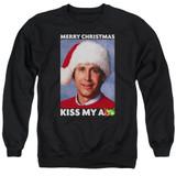 Christmas Vacation Merry Kiss Adult Crewneck Sweatshirt Black