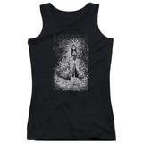 Corpse Bride Bird Dissolve Junior Women's Tank Top T-Shirt Black